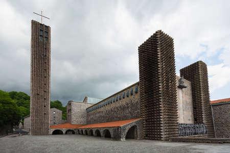 Aranzazu monastery build by Chiilida and oteiza in gipuzkoa