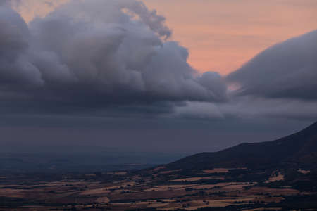 Leon peak in Cantabria mountain range in Navarra