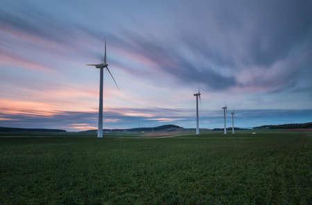 Aerogenerator farm in la Brujula, Burgos, Spain
