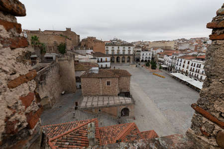 Caceres, Old and gothic village in Extremadura, Spain 新聞圖片