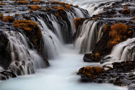 Bruarfoss, a great turquoise waterfall in Iceland
