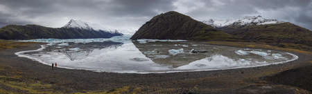 Heinabergslón glacier in Iceland, pure wild nature 版權商用圖片 - 138434563