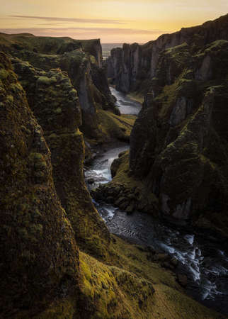 Fjadrargljufur canyon, a great gorge in Iceland