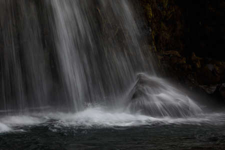 Detal of bautifull kirkjufellfoss waterfall in Iceland 版權商用圖片
