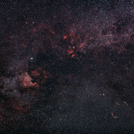 Nebula in the sky, astrophotography in Alava, Spain