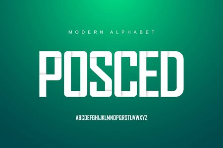 Modern alphabet font set. Typography modern style display font. Premium Vector