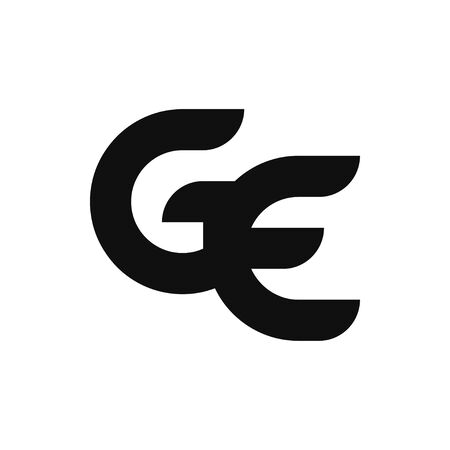 GE Letter Logo Design With Simple style