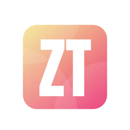 ZT Letter Logo Design With Simple style