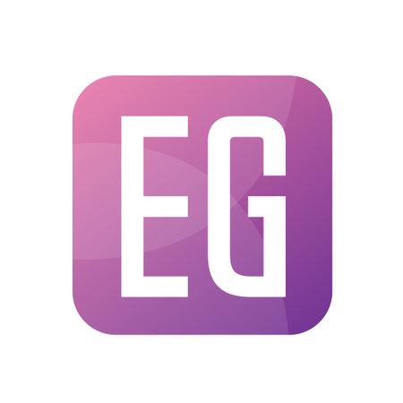 EG Letter Logo Design With Simple style Logó