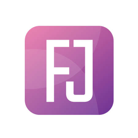 FJ Letter Logo Design With Simple style