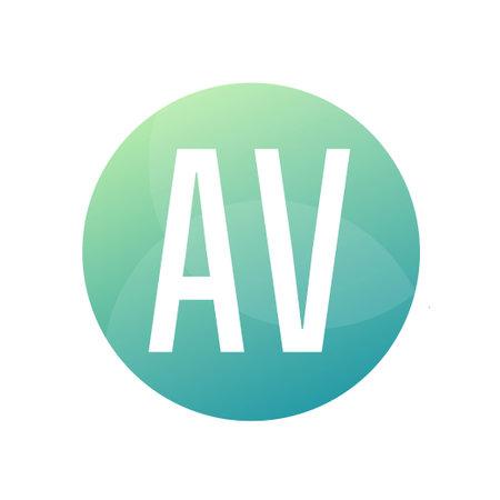 AV Letter Logo Design With Simple style