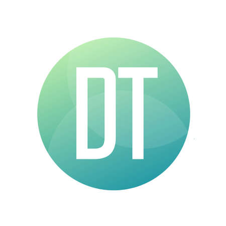 DT Letter Design With Simple style
