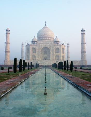 love dome: Taj mahal and its reflection make a beautiful art