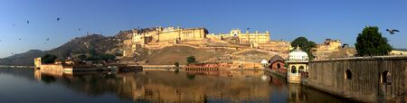 kilometres: Amer Fort is located in Amer, a town with an area of 4 square kilometres located 11 kilometres from Jaipur, Rajasthan state, India. Located high on a hill, it is the principal tourist attractions in the Jaipur area