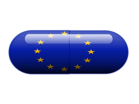 foreign policy: European pill Stock Photo