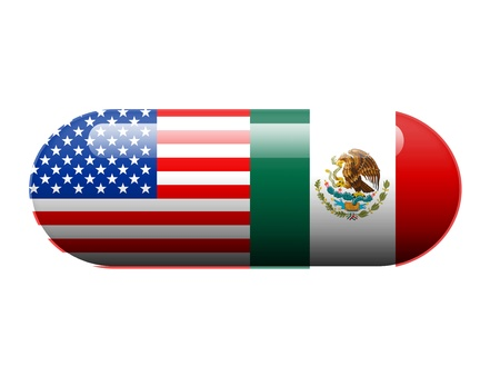 American and Mexican pill photo