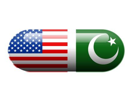 fundamentalism: American and Pakistani pill Stock Photo