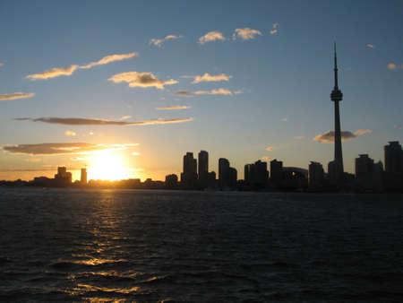 CN Tower & Toronto Skyline at Sunset  photo