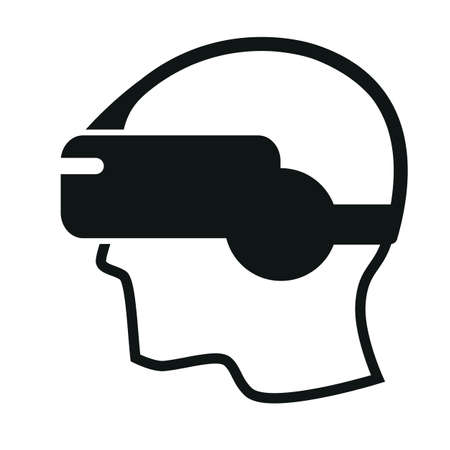 simulate: Virtual reality headset icon design