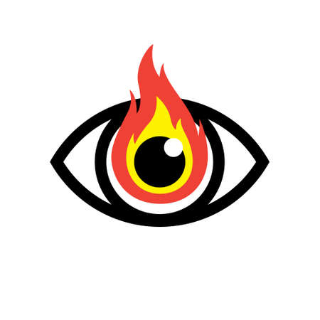 Red Burning Eye Icon Royalty Free Cliparts Vectors And Stock