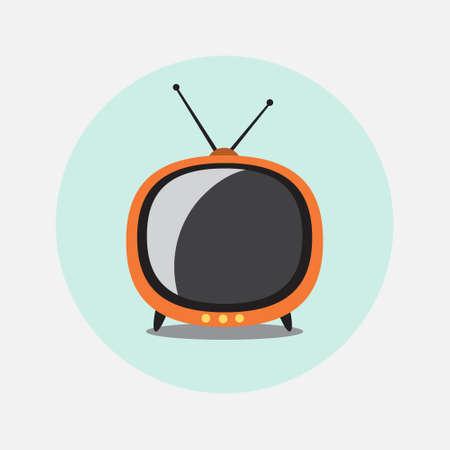 retro tv: Retro TV Icon Flat Design