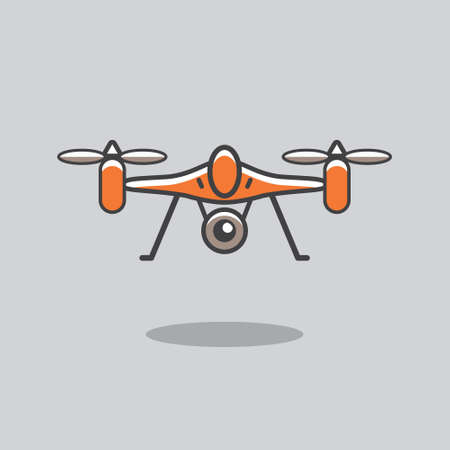 flat: Drone Icons Flat Design