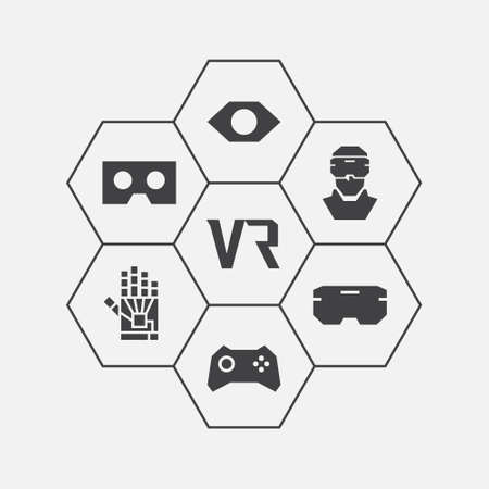 icons: Virtual Reality Icons Set