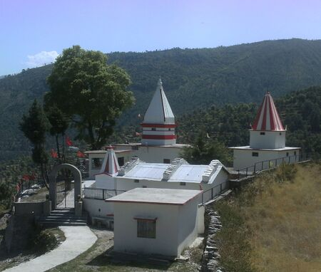 Temple of Rajerajeshwari Mata in Nakot Tehri Garhwal Editorial
