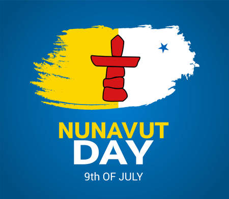 Nunavut Day is a public holiday in the Canadian territory of Nunavut. July 9 th. Poster, card, banner, background design. Vector illustration