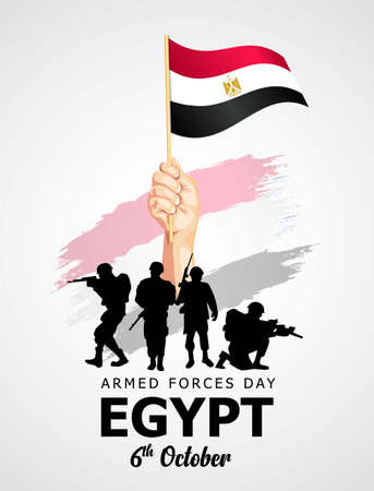 happy armed forces day Egypt. vector illustration
