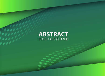 stylish abstract green background vector illustration