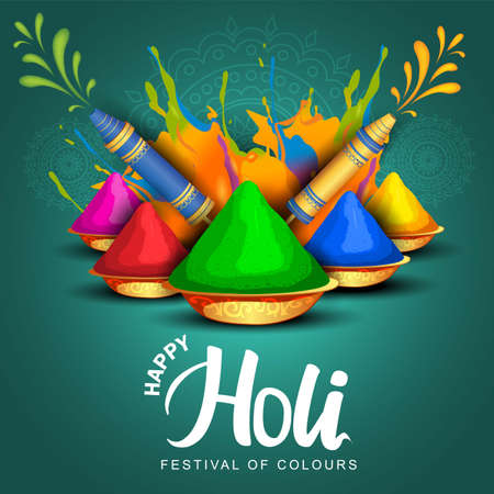 Happy Holi celebration greeting background. vector illustration design 일러스트
