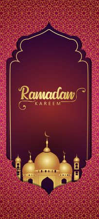 ramadan kareem an eid mubarak web banner design. vector illustration