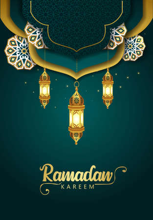 Hanging Lantern for Ramadan Kareem and eid mubarak. pattern,background.vector illustration