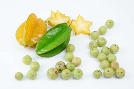 l nutrient: indian gooseberry and starfruit Stock Photo