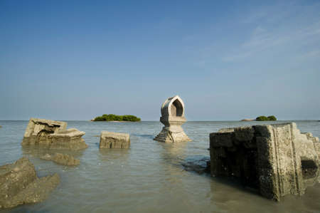 coastal erosion: Coastal erosion in Thailand Stock Photo