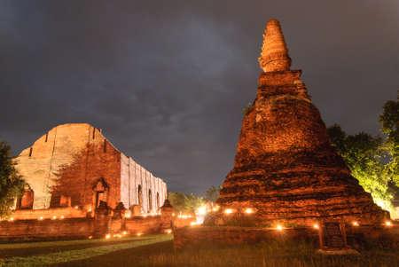 Ancient temple of Ayutthaya, Thailand photo