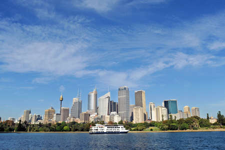 sydney australia city central business district view from royal botanic garden