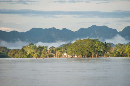 View of Khong river, Nakhonphanom, Thailand