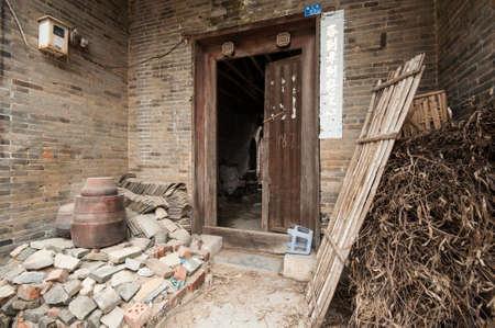 Le b�timent traditionnel chinois, vieux village dans le Guangxi