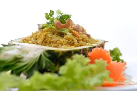 Pineapple fried rice, Thai food photo