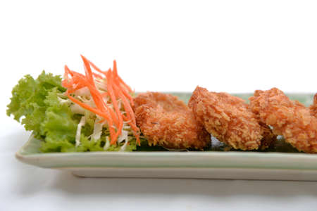 fried shrimp meat ball with sweet sauce
