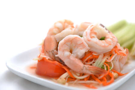 papaya salad (traditional and modern thai food) Stock Photo - 24067763