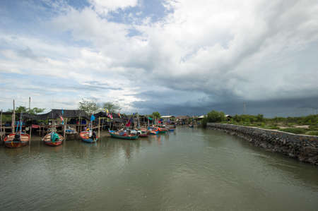 The fishing village local Thailand, asia photo