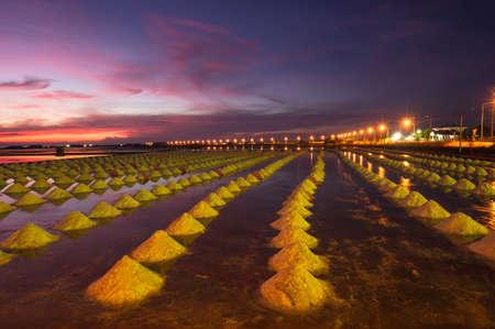Belle Sc�ne de nuit de Salt Pan en Tha�lande