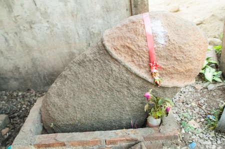 The Erect Penis Shaped Stone, Thailand photo