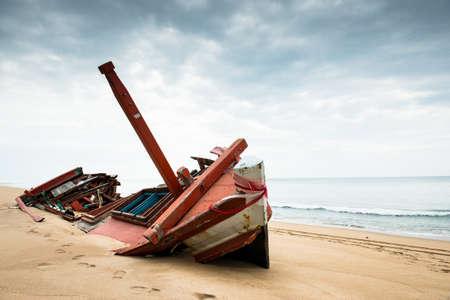 ship wreck: Ship wreck on beach