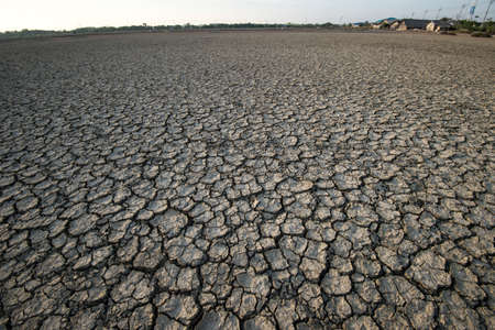 barren: Cracked and barren ground Stock Photo