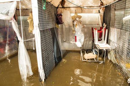 Les inondations sur une large magasins de la région à Bangkok, Thaïlande