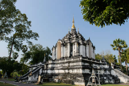 Wat Phra Yuen is the oldest temple in Thailand. Invaluable place of Hariphunchai or Lamphun in northren Thailand